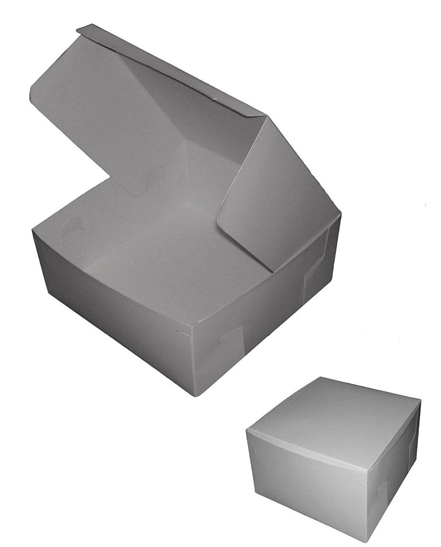 Id/éal pour mariages Lot de bo/îtes pliables en carton blanc de 17,7 x 17,7 x 7,6/cm anniversaires ou pour transporter des g/âteaux Tezraftaar/®