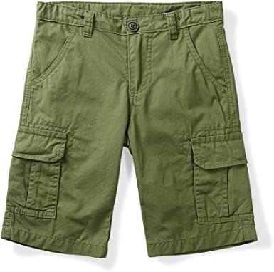 OCHENTA Little Big Boys Lightweight Multi Pockets Casual Cargo Shorts