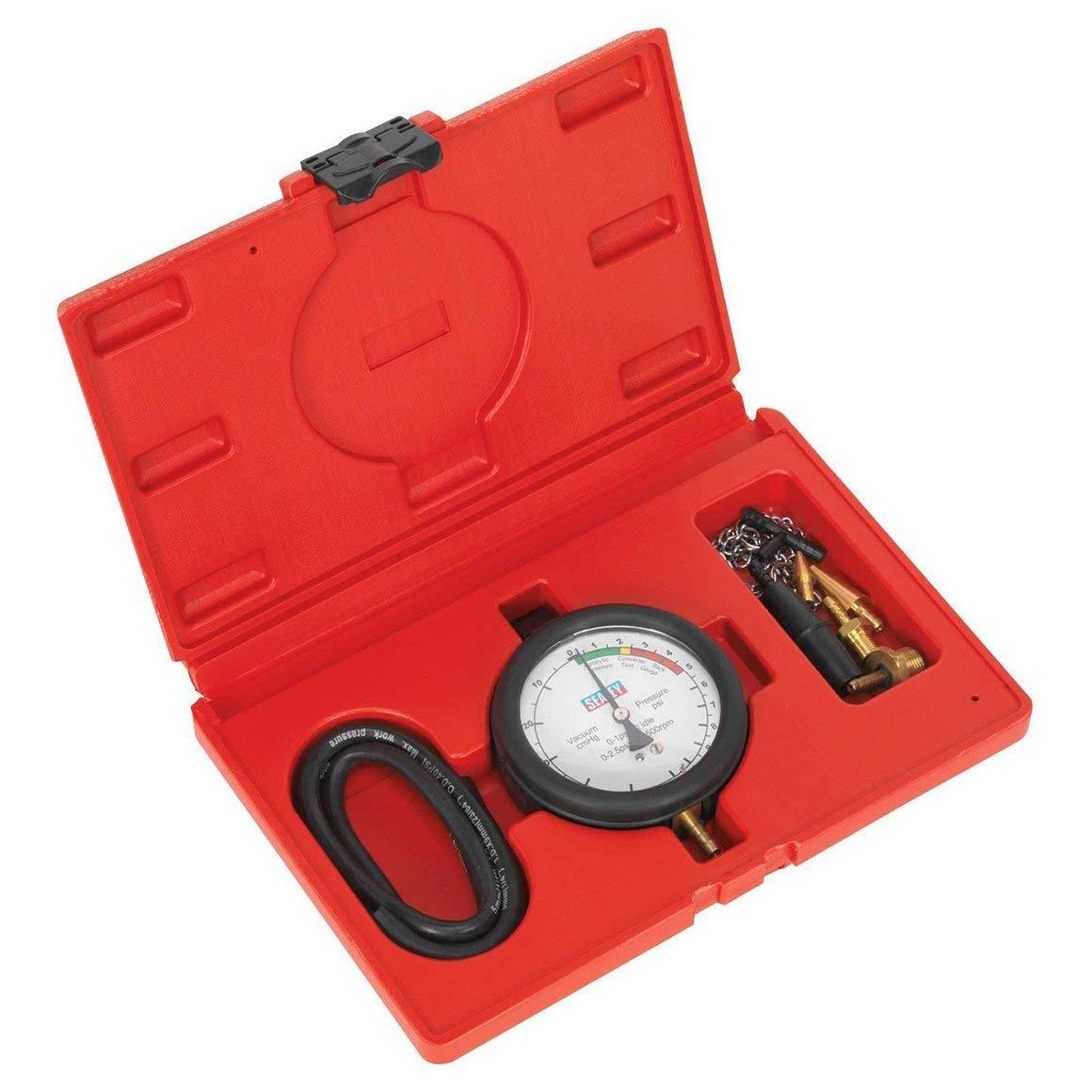 Funnyrunstore Sealey Catalytic Converter/Exhaust Silencer Back Pressure Gauge Test Kit -VSE953