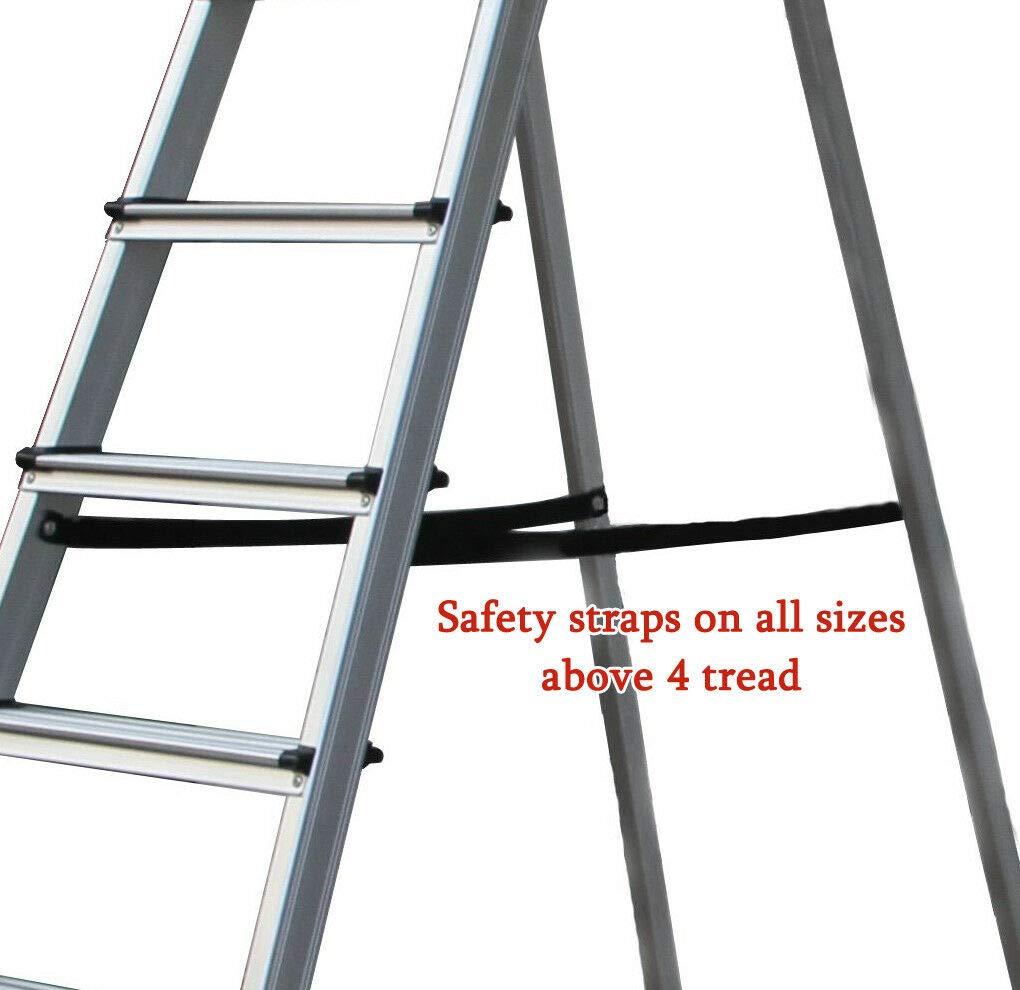 2.6m Multi-Purpose Alloy Aluminum Retractable Multi-Functional Ladder Telescopic Single Straight Extension Extendable Folding Step Ladder 330lb Maximum Load