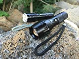 DAX-Tactical-LED-Flashlight-Kit-Super-Bright-1200-Lumen-CREE-LED-Rechargeable-Zoomable-Pocket-Size-for-Camping-and-Hiking-5-modes-18650-batteries-Water-Resistant-Charger-and-Gift-box-Included