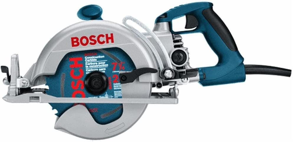 "Bosch 1677M 7-1/4"" Worm Drive with Rear Handle Construction Saw"