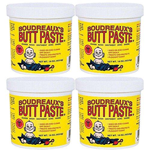 Boudreaux's Butt Paste Diaper Rash Ointment - Original - Contains 16% Zinc Oxide 16 oz, 4-Pack by Boudreauxs