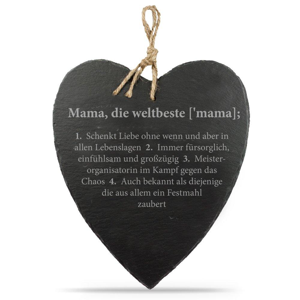 Amazon.de: Casa Vivente - Schieferherz mit Gravur - Herzform ...
