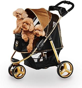 ibiyaya 3 Wheel Dog Stroller for Small and Medium Dogs