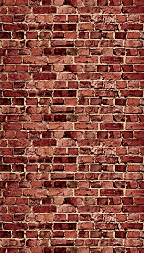(Ella Bella Photography Backdrop Paper, Aged Red Brick, 48