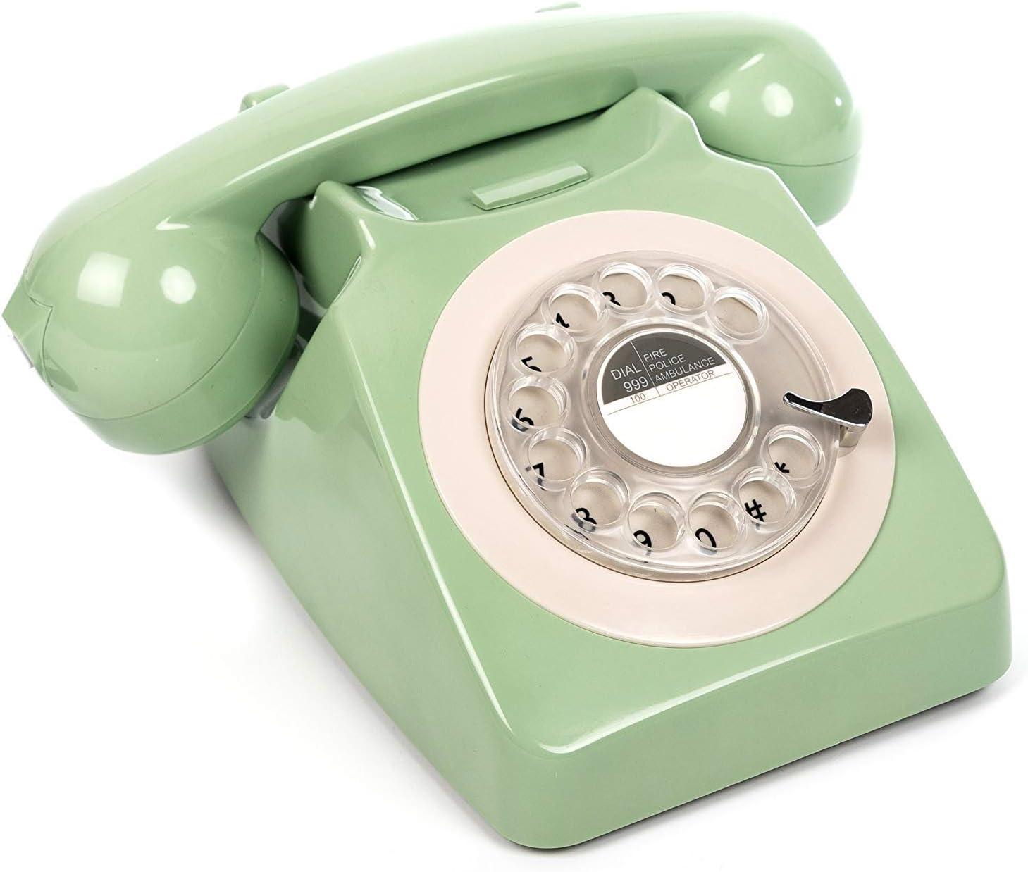 Gpo 746rotarygreen Retro Telefon Mit Wählscheibe Im Elektronik