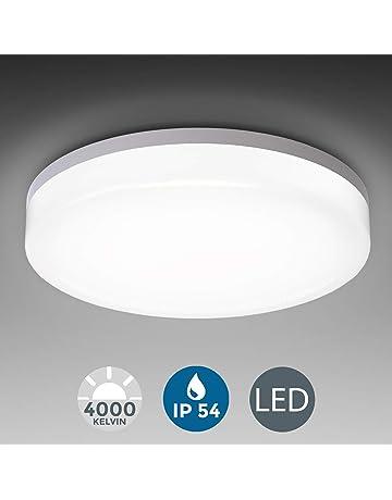 Plafoniera rotonda//Lampada da parete Ø 22cm ip44 LED con rilevatore di movimento Lampada Corridoio