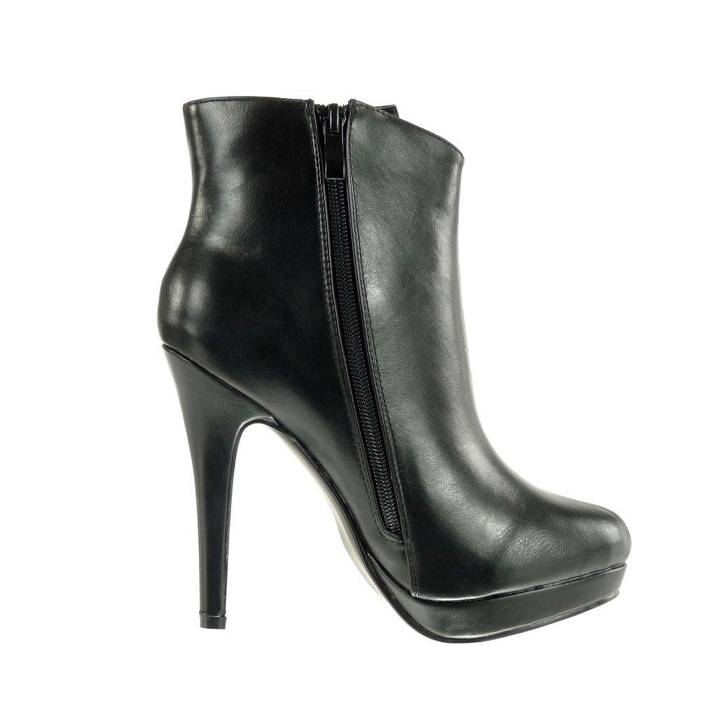 Angkorly Damen Schuhe Stiefeletten - Plateauschuhe - Sexy - Stiletto - Schlangenhaut - Golden Stiletto High Heel 12.5 cm - Schwarz G200-5 T 37 85gxRmV68J
