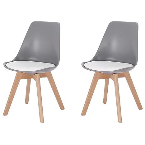 eSituro DC19 - Juego de 2 sillas esquineras de Cocina, Color ...