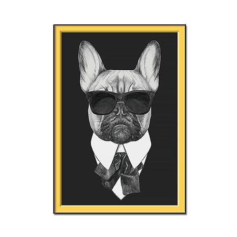 Amazon.com: Traje para perro sin marco, pintura artística ...