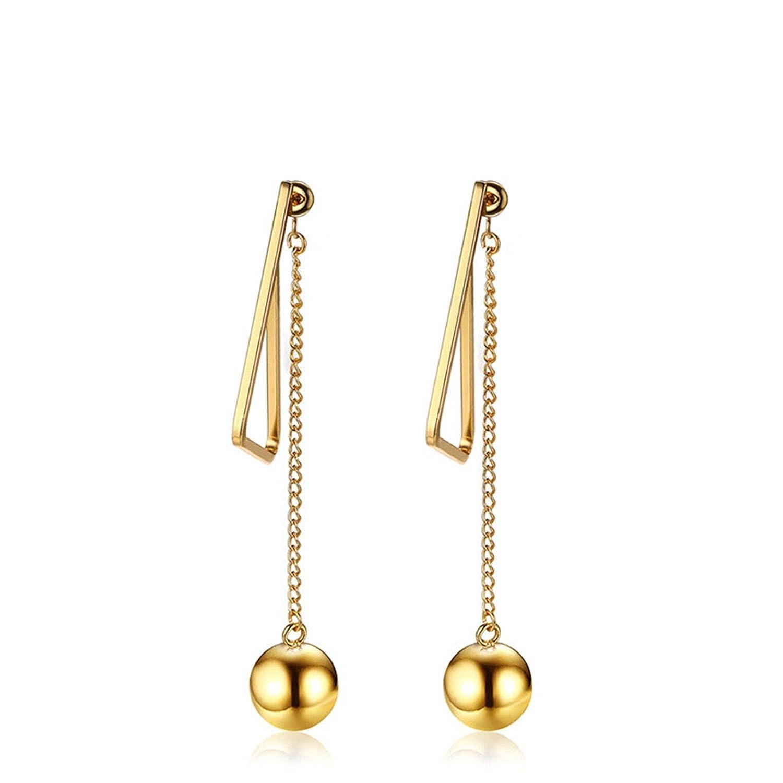 370337b0e Amazon.com: Anazoz Womens Earrings, Stainless Steel Ball Triangle Gold Drop  Dangle Earrings: Jewelry