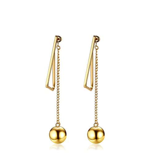 b75b63fe0 Image Unavailable. Image not available for. Color: Anazoz Womens Earrings, Stainless  Steel Ball Triangle Gold ...