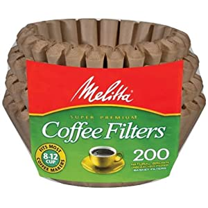 Melitta 62957 8 To 12 Cup Natural Brown Basket Coffee Filters 200 Count(Pack of 2)
