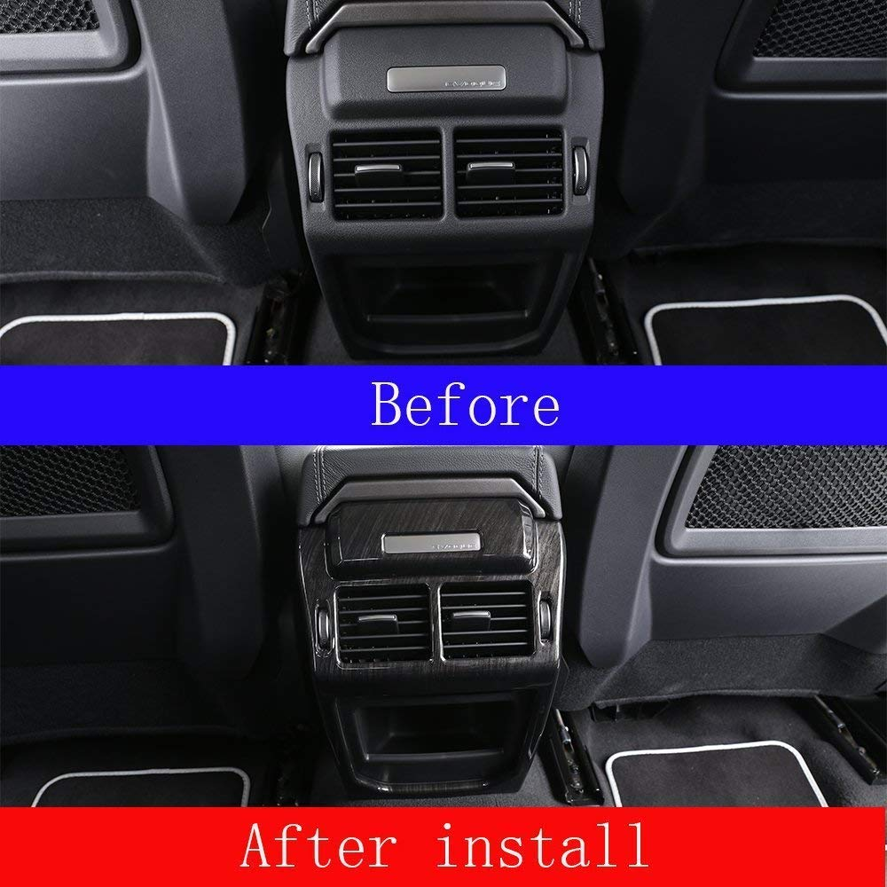 AUTO Pro for Land Rover Evoque 2012-2017 Rear Row Air Condition Vent Cover Frame Trim Stickers Car Interior Accessories Dark Ash Wood by AUTO Pro (Image #3)