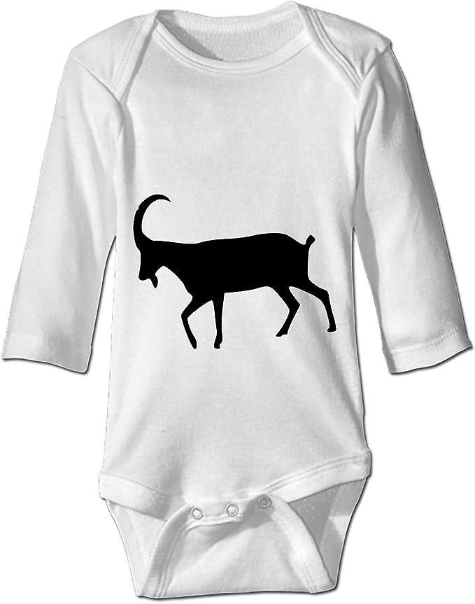 WilBstrn Newborn Baby Onesie Goat Print Romper Bodysuit