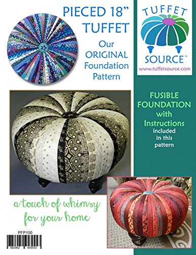 """Pieced 18"""" Tuffet Foundation Pattern with Guide - Pattern and Instructions ONLY"""