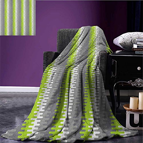 Abstract Custom blanket Wavy Stripes Pattern with Colorful Vertical Shapes Mosaic Digital Composition all weather blanket Multicolor size:51