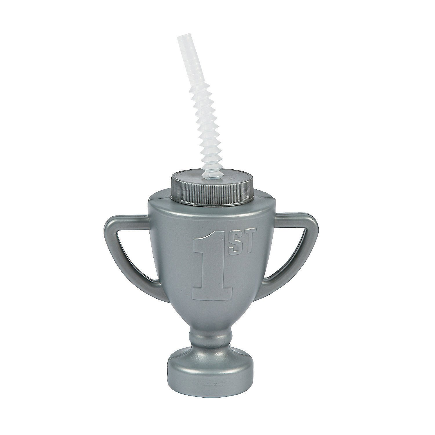 Race Car Trophy Cups with Straws (set of 12) Birthday Party Supplies by Fun Express