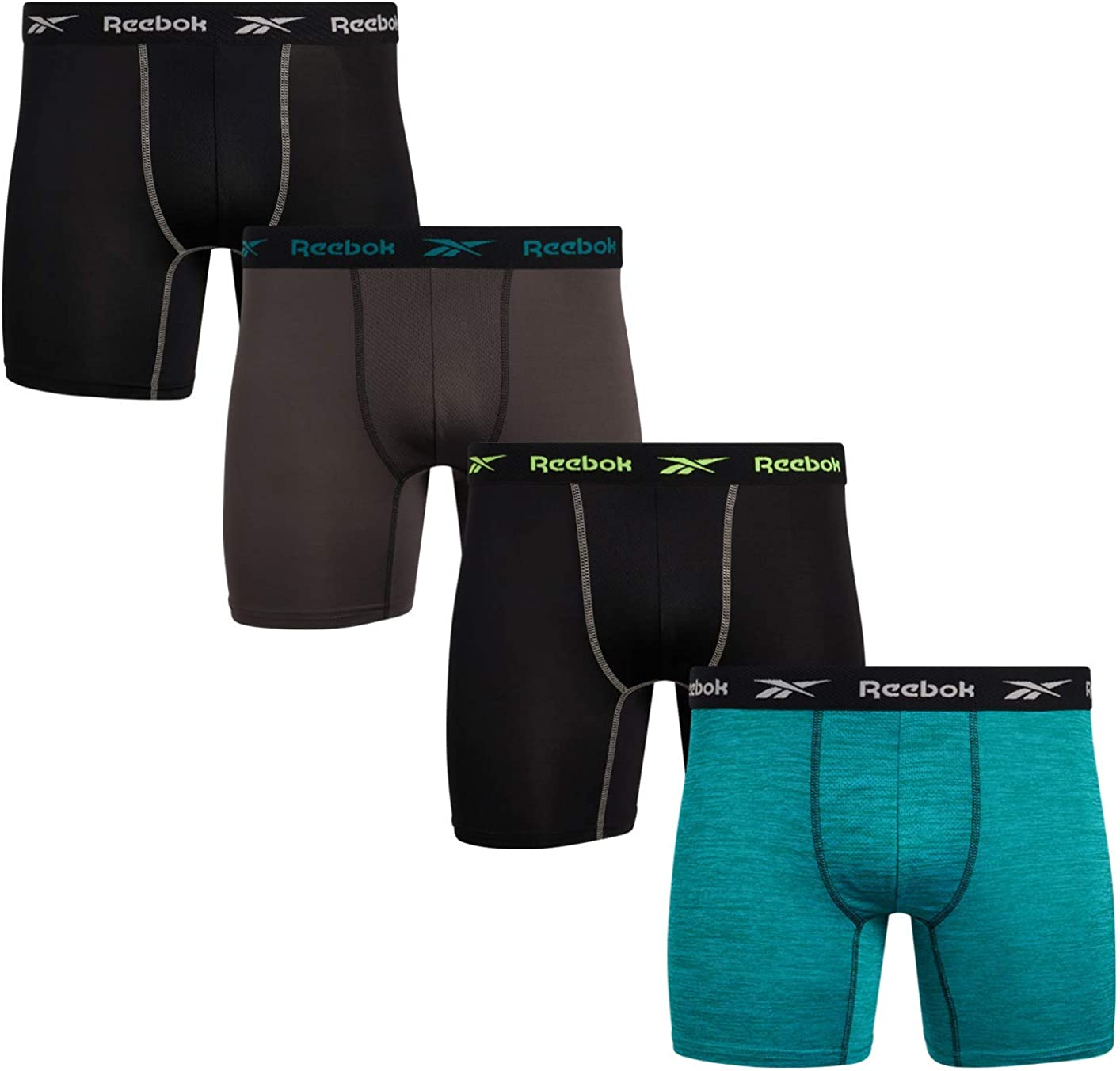 Reebok Men's Performance Boxer Briefs with Comfort Pouch (4 Pack)