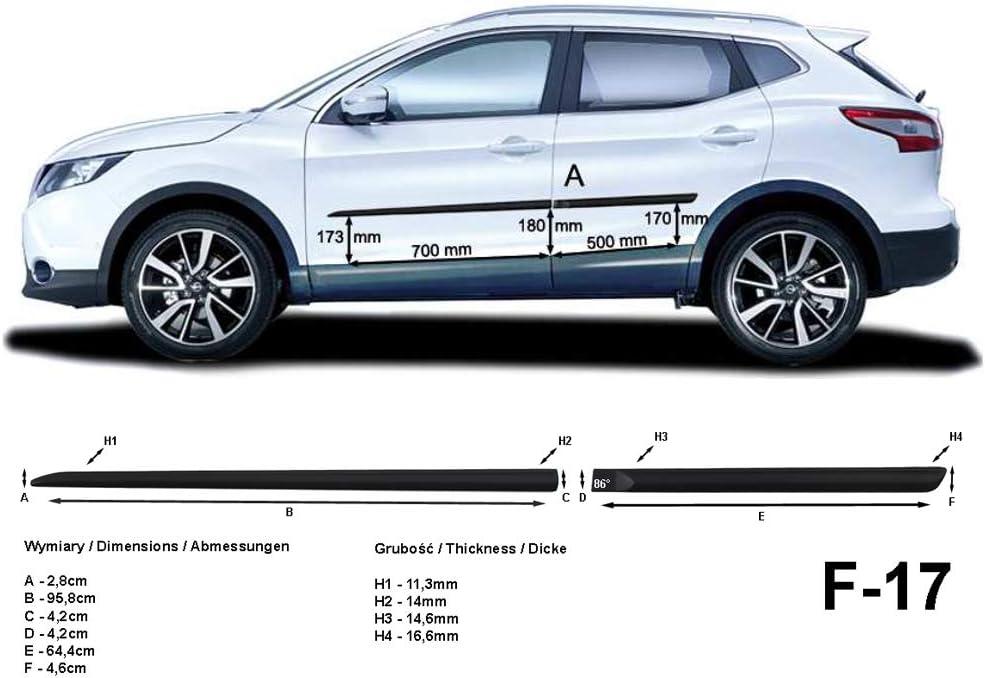 Set de Car Shades compatible avec Nissan Qashqai 5 portes 2014 excl Facelift 9//2017