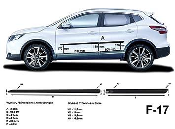 Spangenberg Listones de protección Lateral Nissan Qashqai II 2. Generación a Partir de año de construcción 11.2013- F17 (370001710): Amazon.es: Coche y moto