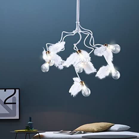 moderna lámpara colgante plafón de diseño creativo G4 Bombilla LED Muelle alas de ángel alas de