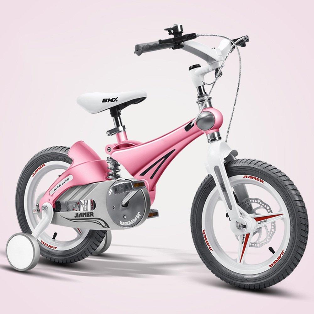 HAIZHEN マウンテンバイク 子供用自転車ベビーカーベビーカーマウンテンバイク子供用自転車マグネシウム合金サスペンションシステム/デュアルディスクブレーキ12インチ、14インチ、16インチ 新生児 B07C42K8WK 12 inch|ピンク ぴんく ピンク ぴんく 12 inch