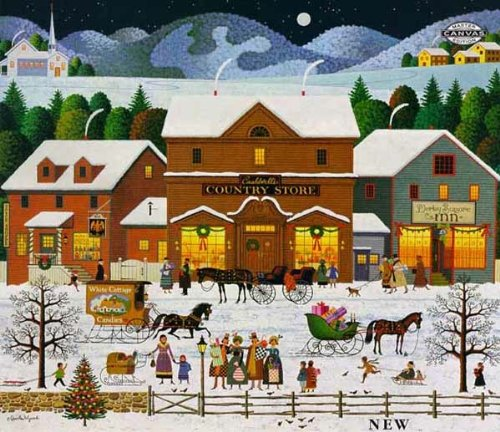 Numbered Limited Edition Art - Charles Wysocki - Christmas Eve - Signed and Numbered Limited Edition with Certificate