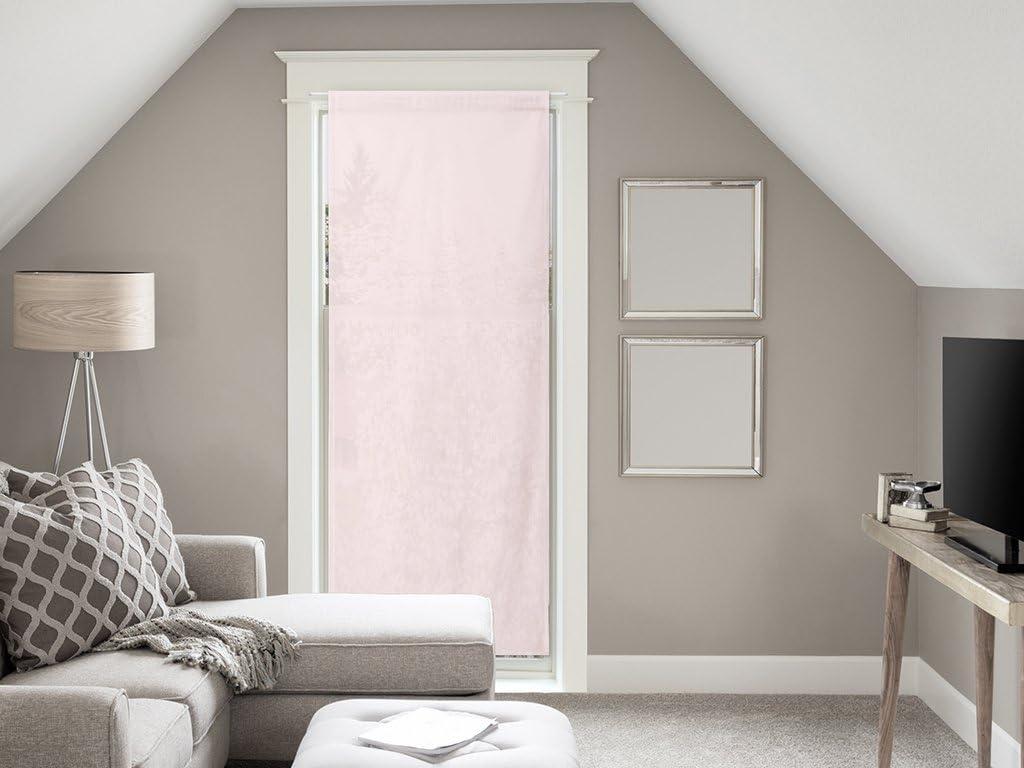 Soleil docre Gardine f/ür Fenstert/ür Baumwolle 70x200 cm Panama rosa