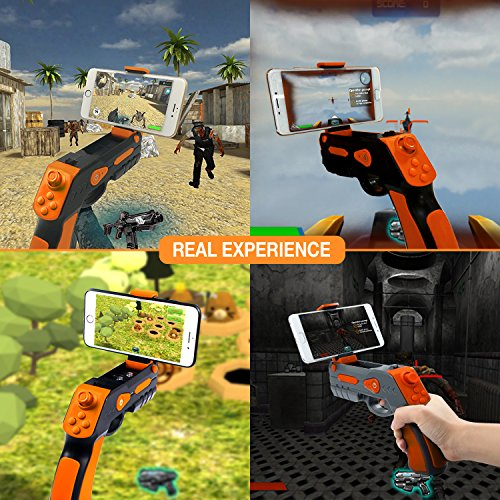 Aabir AR Gun – Target Games Augmented Reality, Safe and Novelty Toys for Adults Kids Boys Girls Teens Controller Suitable for All Phones iPhone Models, Samsung Galaxy series and other Androids