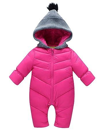 42471f09cc7d1 ベビー ジャンプスーツ 冬 着ぐるみ カバーオール 外出服 長袖 厚手 防寒 女の子 出産祝い ローズ XL
