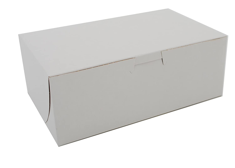 Southern Champion Tray 0925 Premium Clay Coated Kraft Paperboard White Non-Window Lock Corner Bakery Box, 8