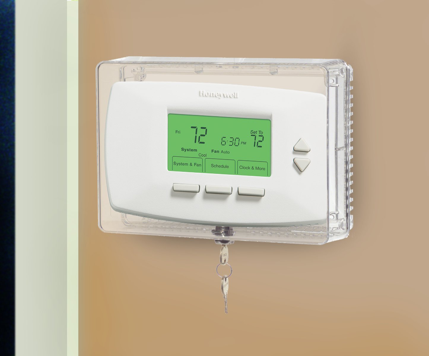 Honeywell CG511A1000/C Medium Thermostat Guard with Inner Shelf to Prevent Tampering by Honeywell
