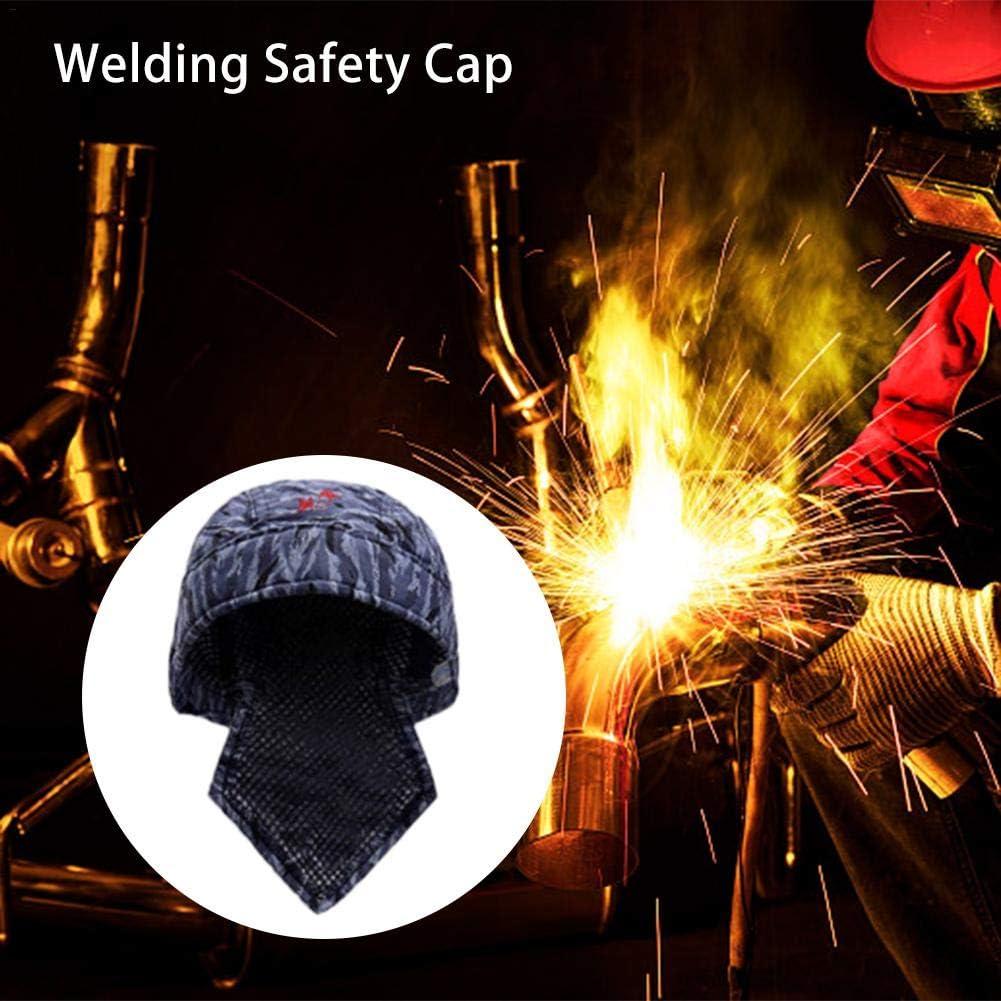 Lavable Retardante de llama Resistente al fuego Protecci/ón para la cabeza Sombrero de soldadura Tipo Bandana Seguro de trabajo Soldador Sombrero anti-quemaduras Equipo de protecci/ón de soldadura
