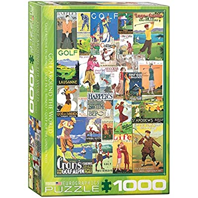 EuroGraphics Golf - Vintage Collage Puzzle (1000 Piece), (Model: 6000-0933): Toys & Games