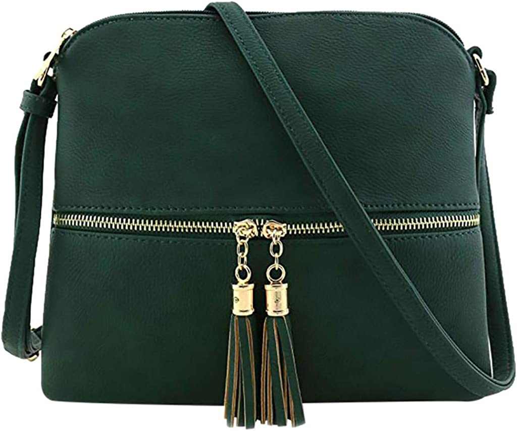 Big Promotion!!!HYIRI Womens leather tassel multi-color optional in line with various scenes Messenger bag