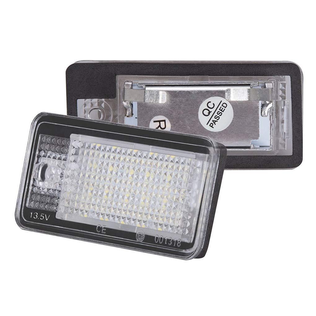 Pandiki Car LED Licence Lampe de Plaque pour Q7 A3 S3 S4 B6 A6 C6 A8 S8 Car Styling Automobile Lumi/ère LED Num/éro de Plaque