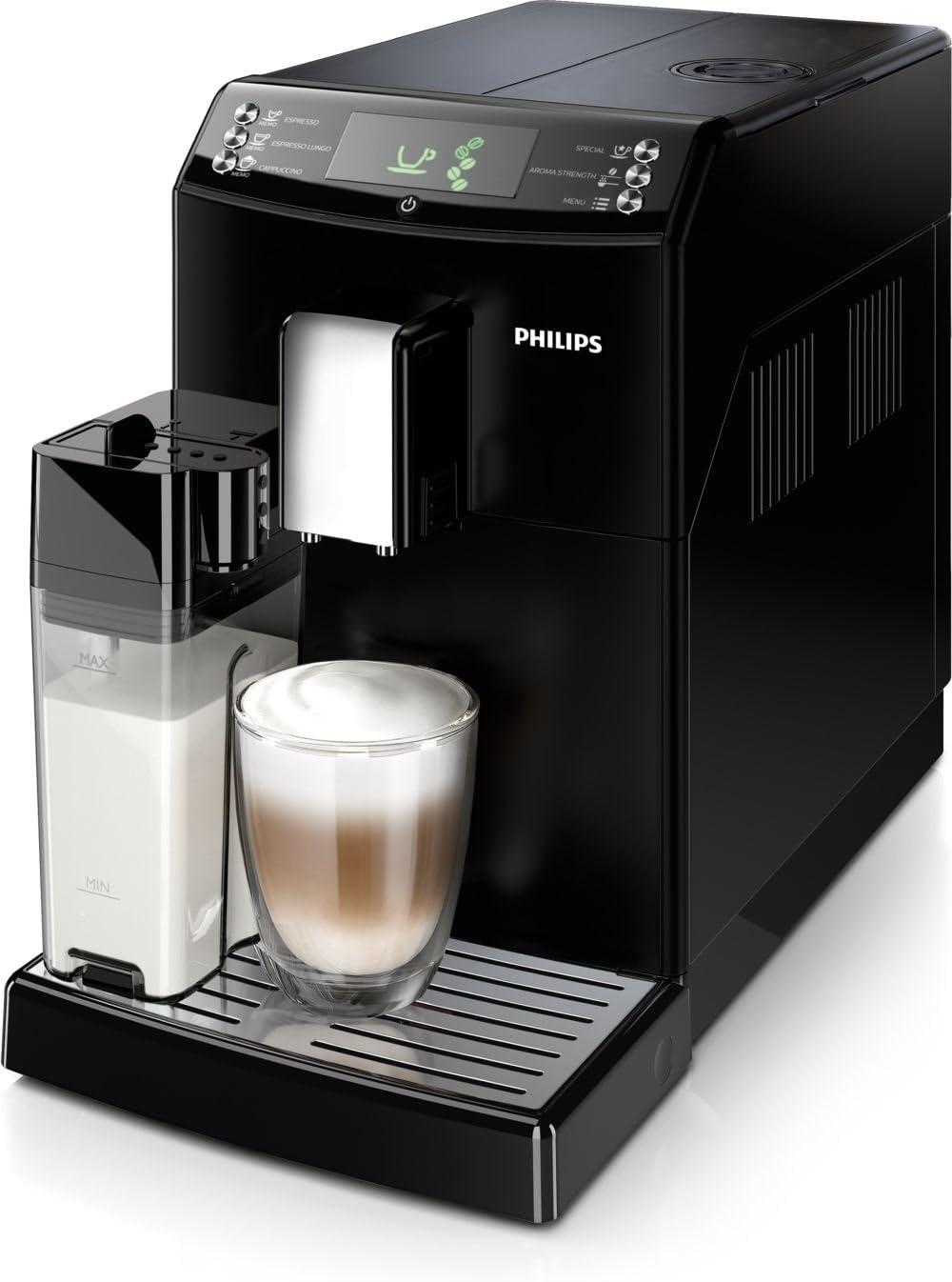 Philips 3100 series HD8834/09 - Cafetera (Independiente, Máquina espresso, 1,8 L, Molinillo integrado, 1850 W, Negro): Amazon.es: Hogar