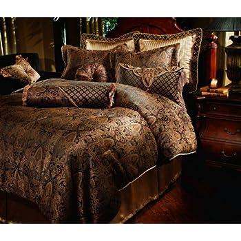 Amazon.com: 8pc Southern Textiles Manchester Gold Black