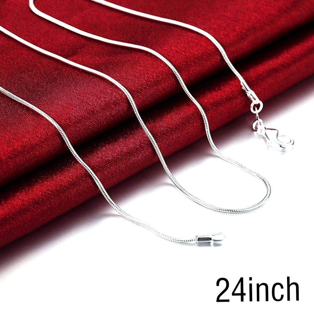 UpBeauty Unisex Fashion Silver Snake Chain Long Necklace Chains