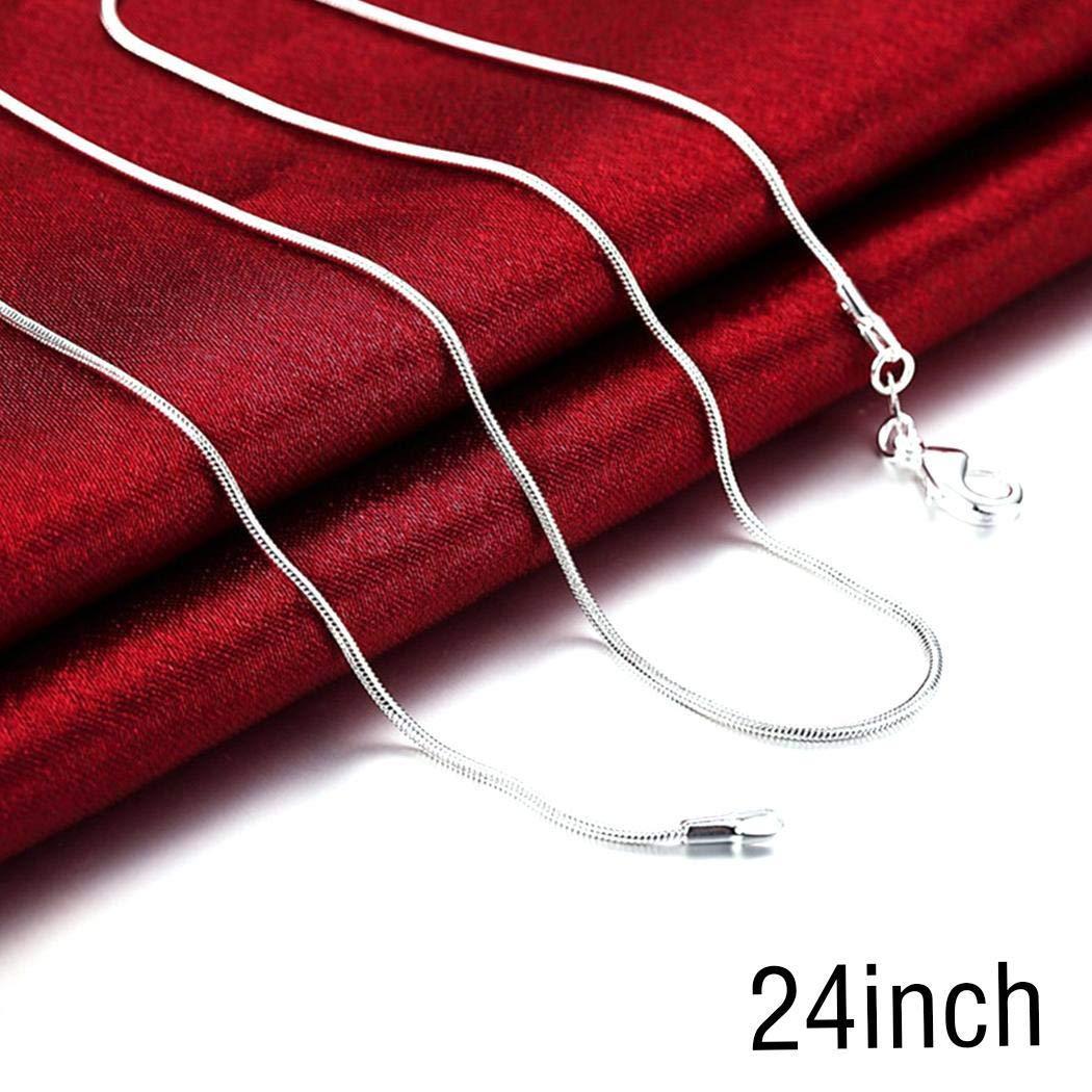 Upbeauty Unisex Fashion Silver Snake Chain long