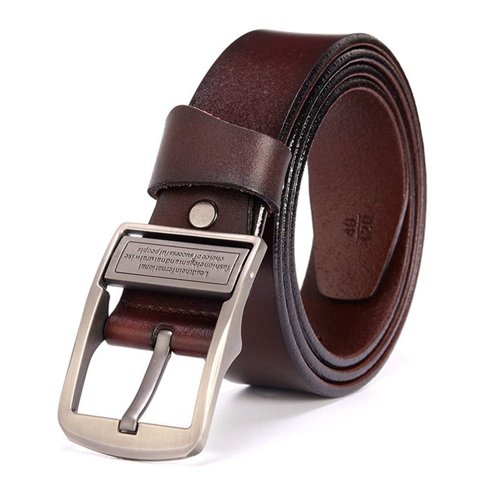 - Canvas Belt New Men's Belt Casual Leather Belt Belt Reverse Vintage Men's Belt (Size   115cm)