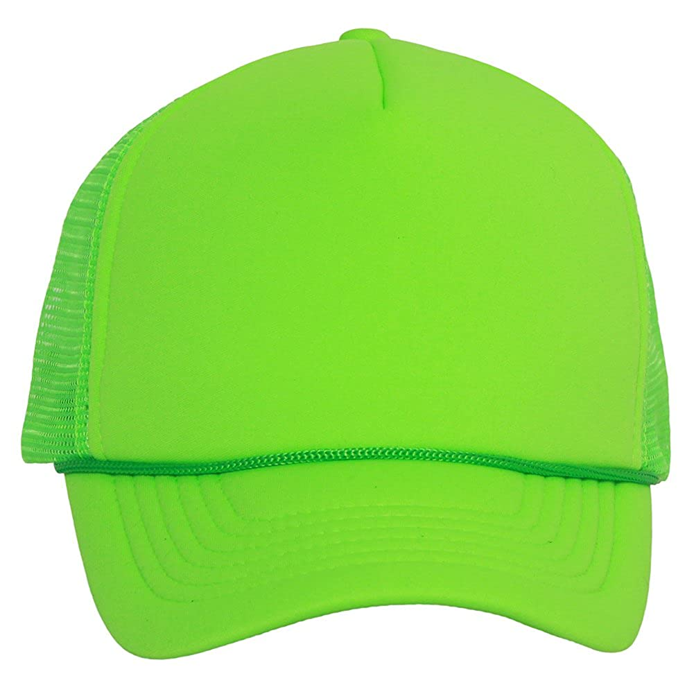 TOP HEADWEAR Structured Neon Trucker Mesh Hat