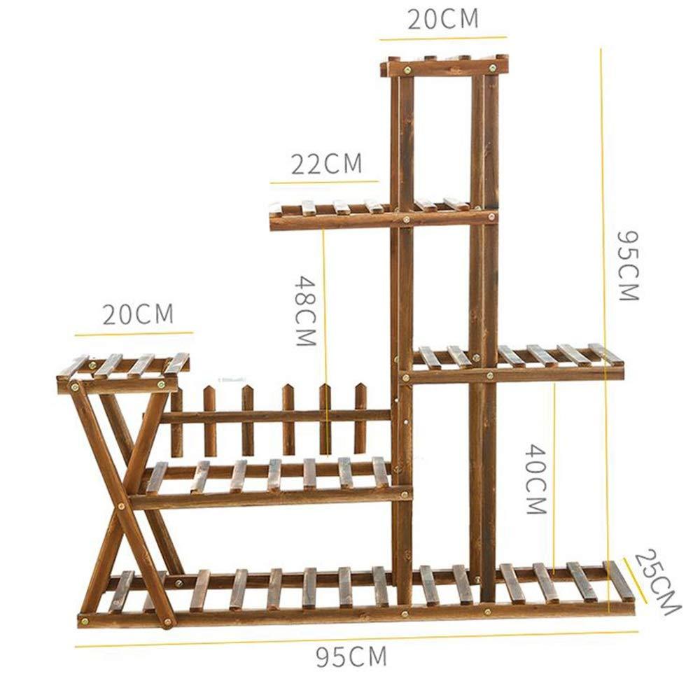 XZGDEN Espositore Multifunzionale in Legno per Fiori, pianta in Vaso Decorativo Multifunzionale Espositore Multifunzionale in salice 2 Dimensioni (Dimensioni   Normal Style)
