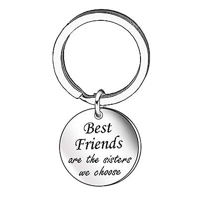 Llavero con Texto en inglés Best Friend Sister para Mujeres ...