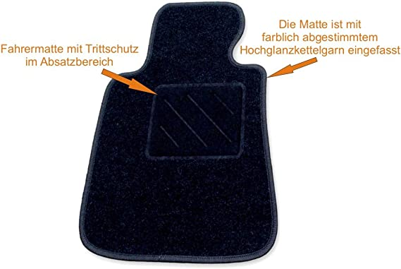 Rau Passform Fussmatte Fahrermatte Zero Schwarz Fahrzeug Siehe Text Auto