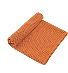 CICN Cooling Towel Quick-Drying Towel Two-Tone Cold Towel (1, Orange)