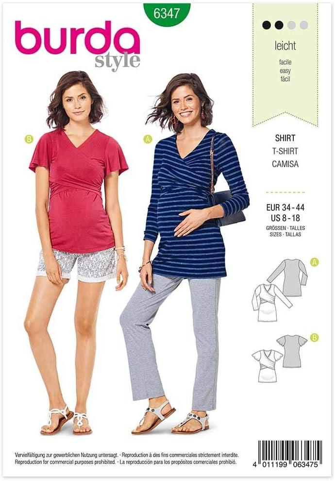 Burda 6347 - Patrón de costura para confeccionar camiseta de ...