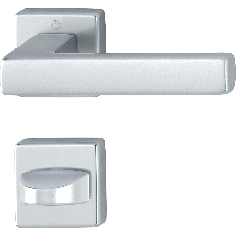 HOPPE AUSTIN - Picaporte para inodoro (aluminio anodizado), color plateado